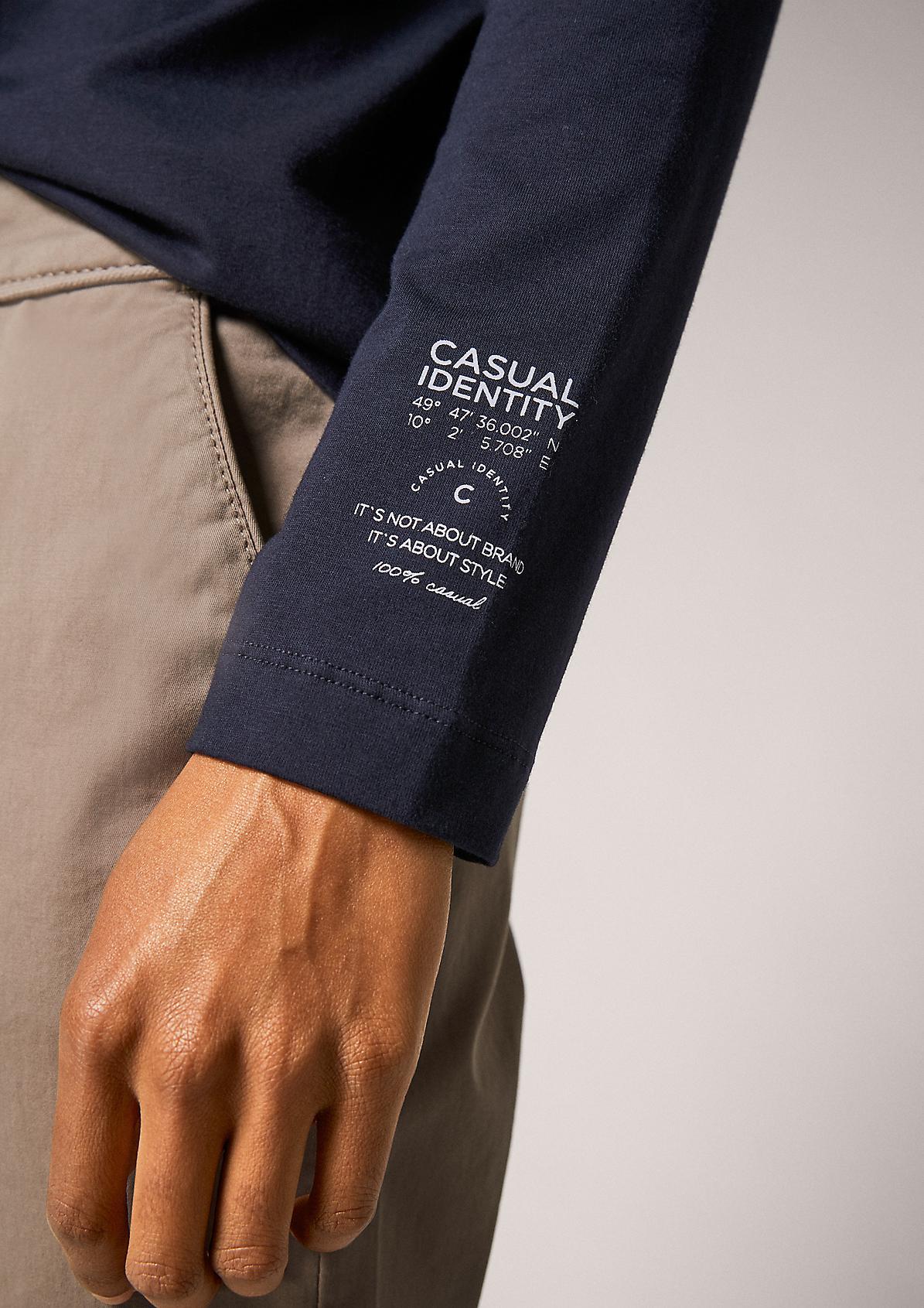 Jerseyshirt mit Rollkragen