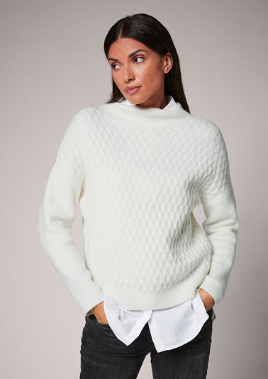 Blended wool jumper from comma