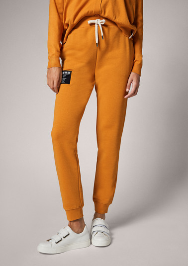 Regular: tracksuit bottoms with embroidery from comma