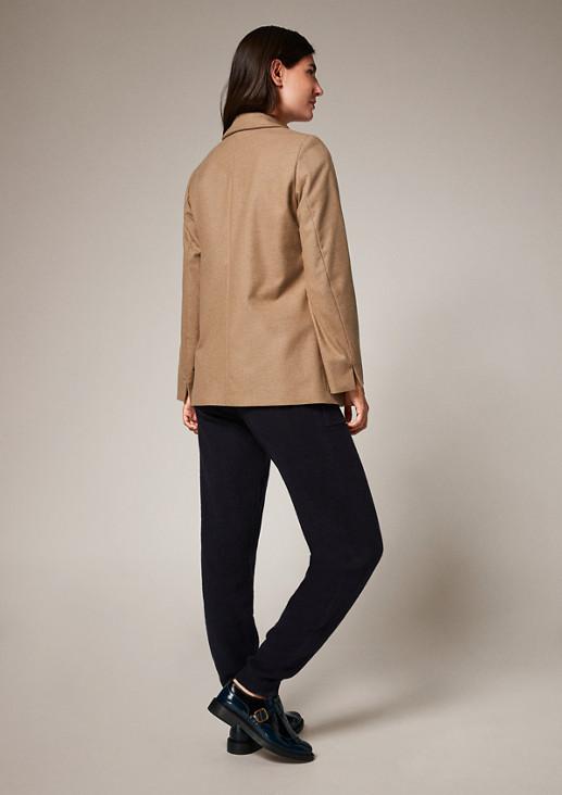 Long-Blazer mit Zierknöpfen