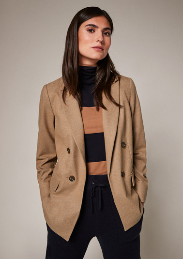 Long blazer with decorative buttons from comma