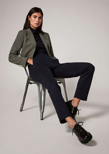 Blazer with a herringbone texture from comma