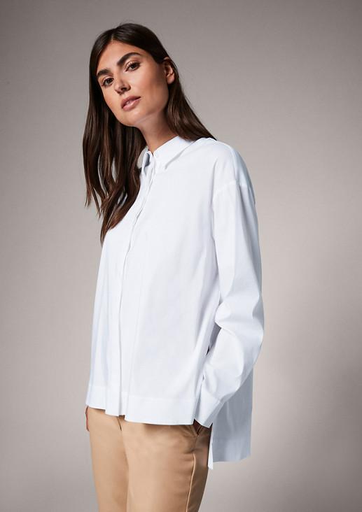 Lockere Bluse aus Popeline