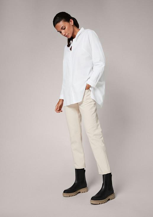 Lockere Bluse aus Baumwolle