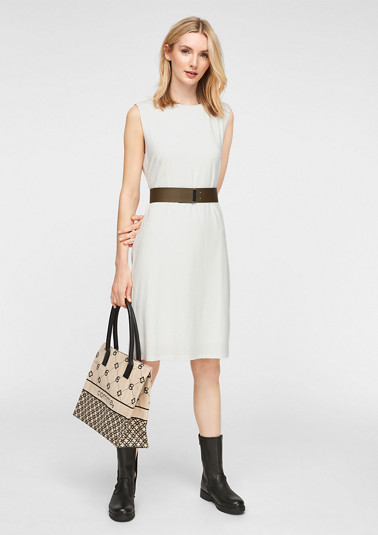 Dress with reinforced shoulders from comma