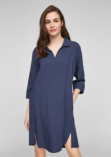 Blended linen shirt dress from comma