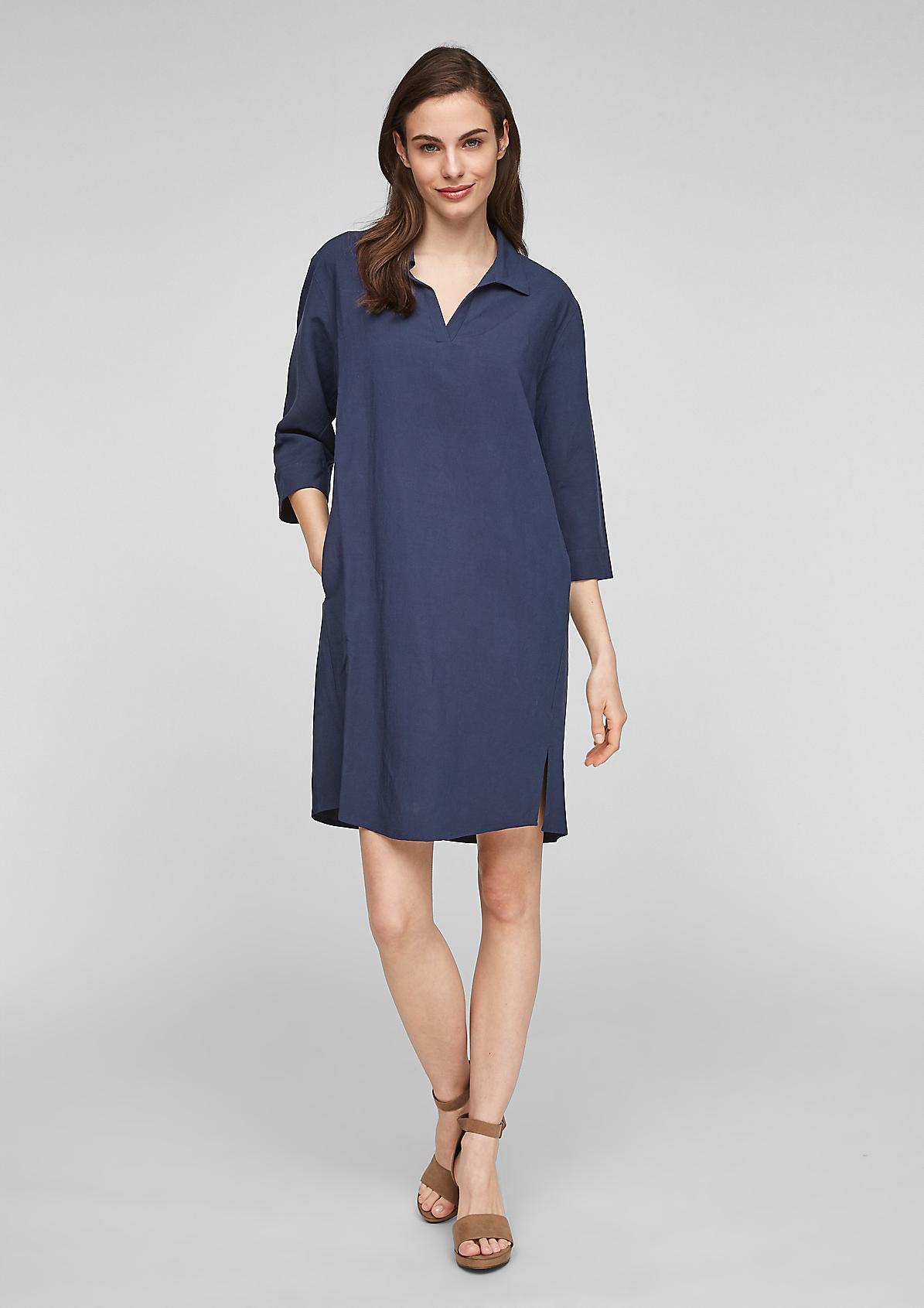 Blended linen shirt dress from comma