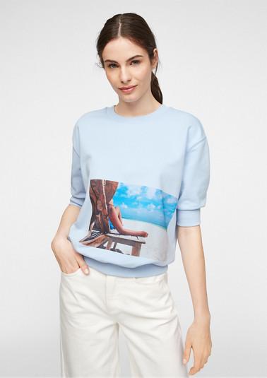 Kurzer Sweater mit Fotoprint