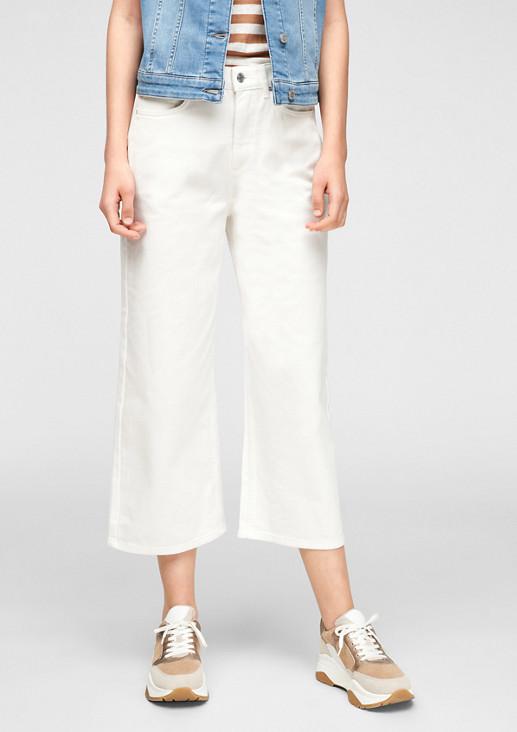 Regular Fit: Jeans im Culotte-Stil