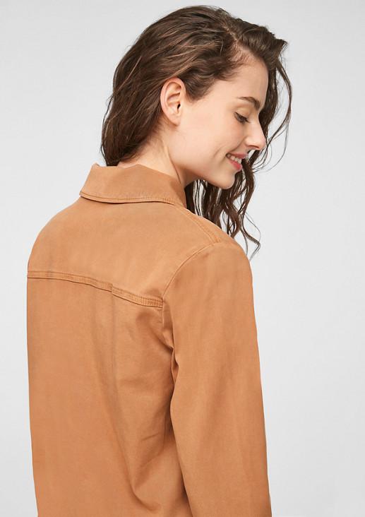 Jacke aus Lyocellmix