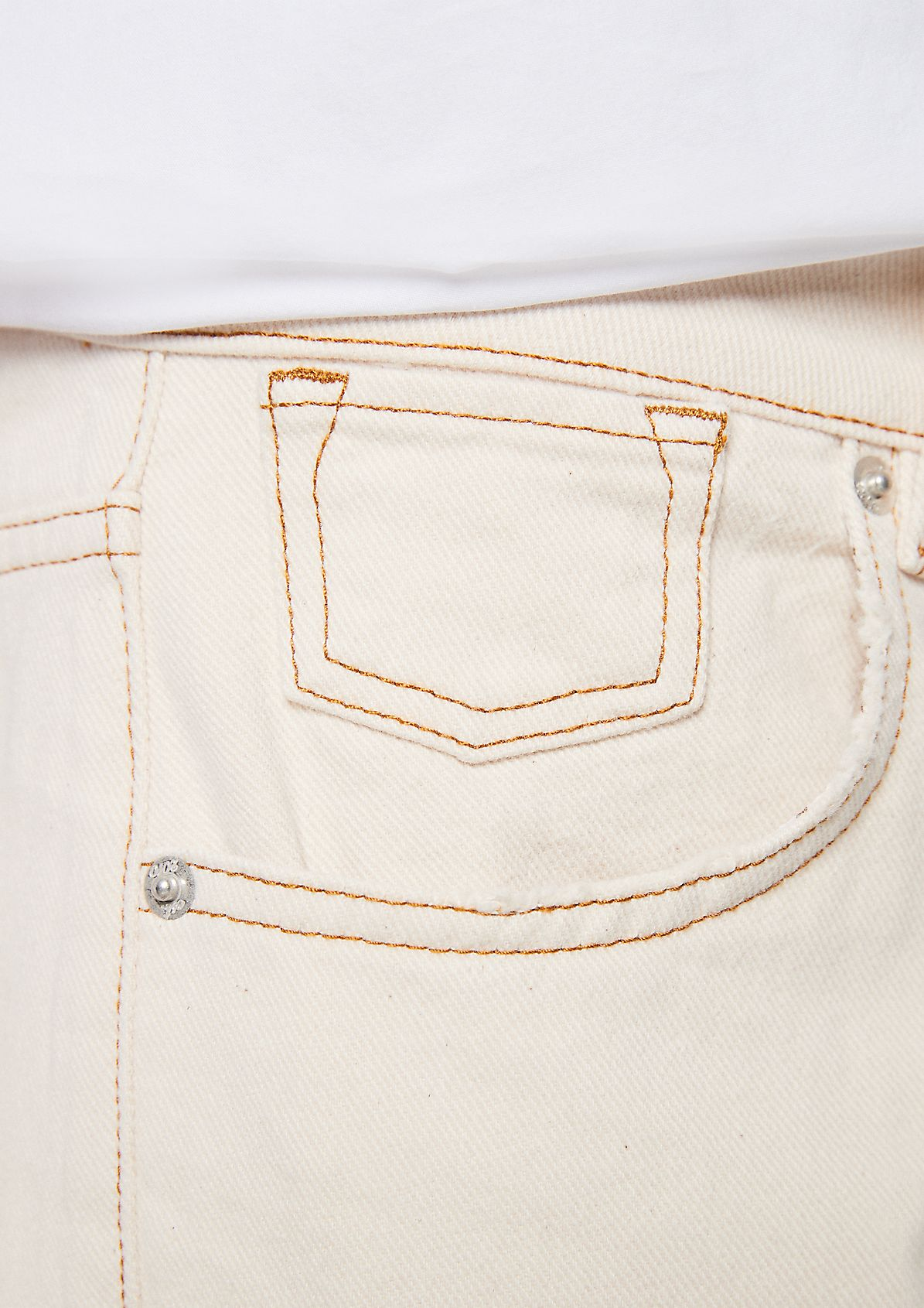 Regular: Boyfriend-Jeans aus Twill