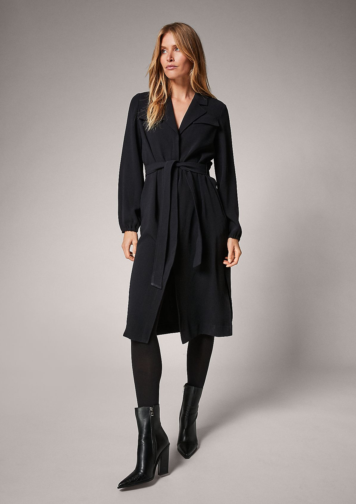 Shirt dress with twill texture from comma