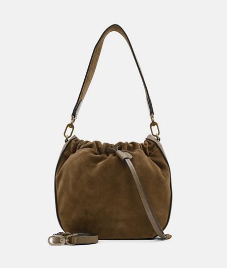 Suede bucket bag from liebeskind