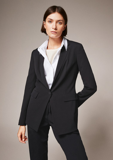 Stretch viscose blazer from comma