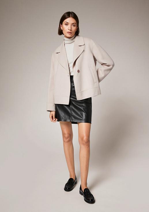 Rollkragen-Pullover aus Strick