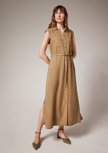 Maxi dress with tie belt from comma