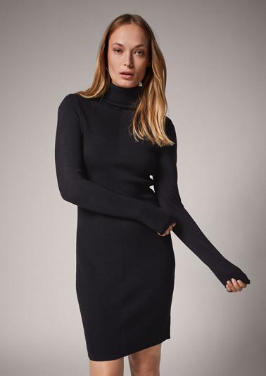 Rib knit dress from comma