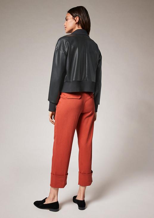 Kurzjacke im Leder-Look