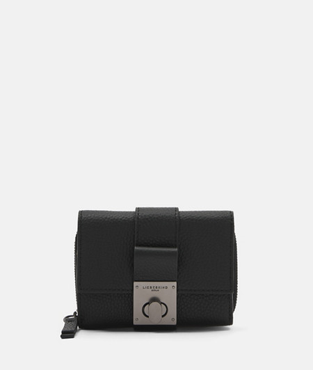 Small leather purse with a twist clasp from liebeskind