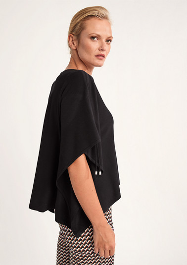 Fine knit poncho from comma