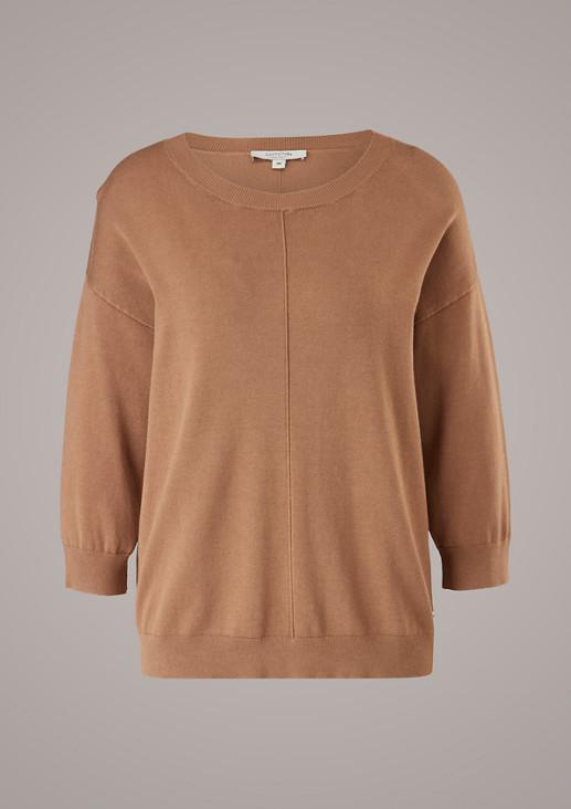 Pullover mit 3/4-Ärmel