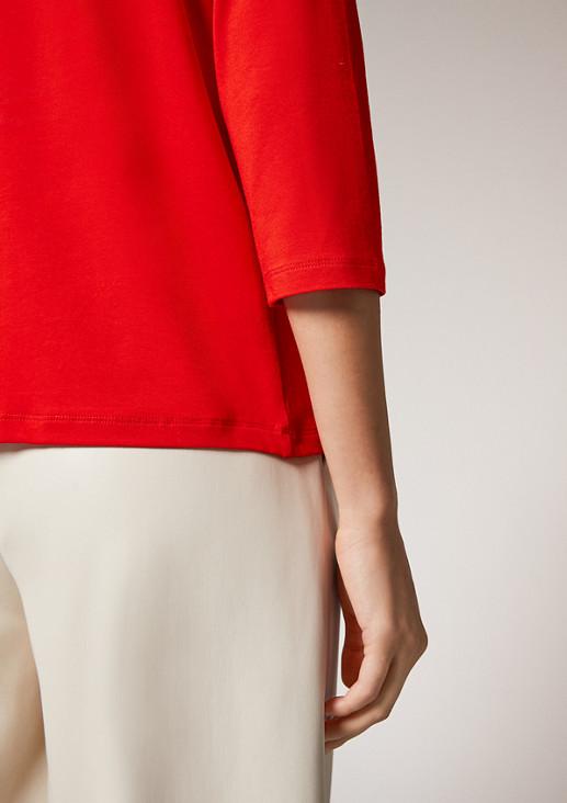 3/4-Arm-Shirt mit Stehkragen