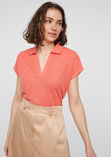 Soft piqué top from comma