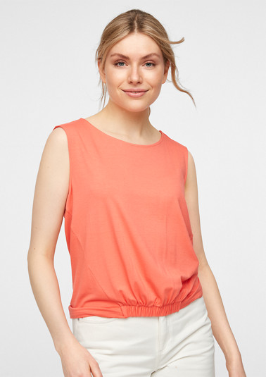 Sleeveless top with elasticated details from comma