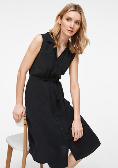 Blended cupro shirt dress from comma