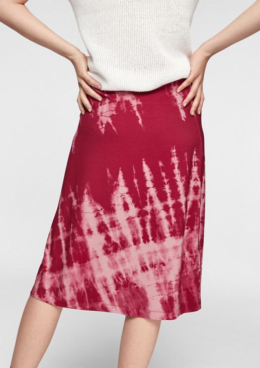 Midirock mit Batik-Muster