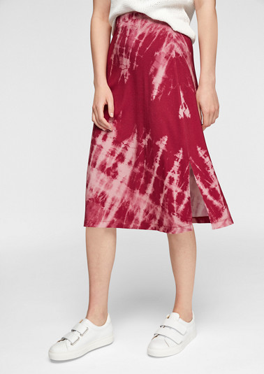 Midi skirt with a batik pattern from comma