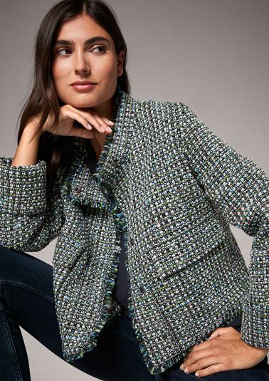 Bouclé jacket from comma