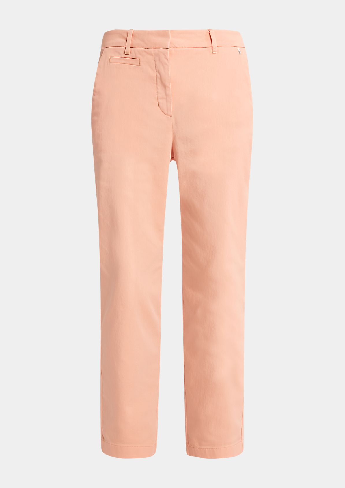 Slim: Cotton satin trousers from comma