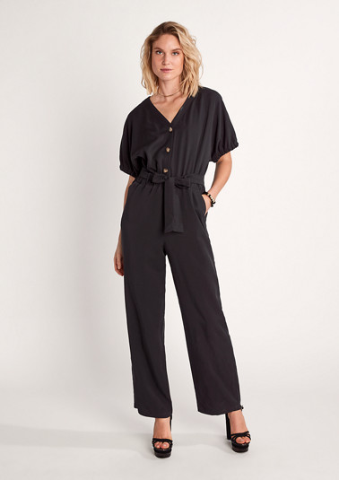 Lightweight twill jumpsuit from comma