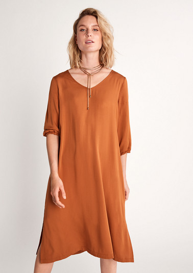 Viscose dress with 3/4-length sleeves from comma