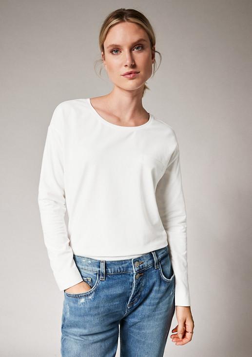 Langarmshirt im cleanen Look