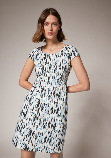 Dress with an all-over pattern from comma