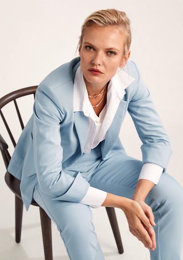 Slim-fitting cotton satin blazer from comma