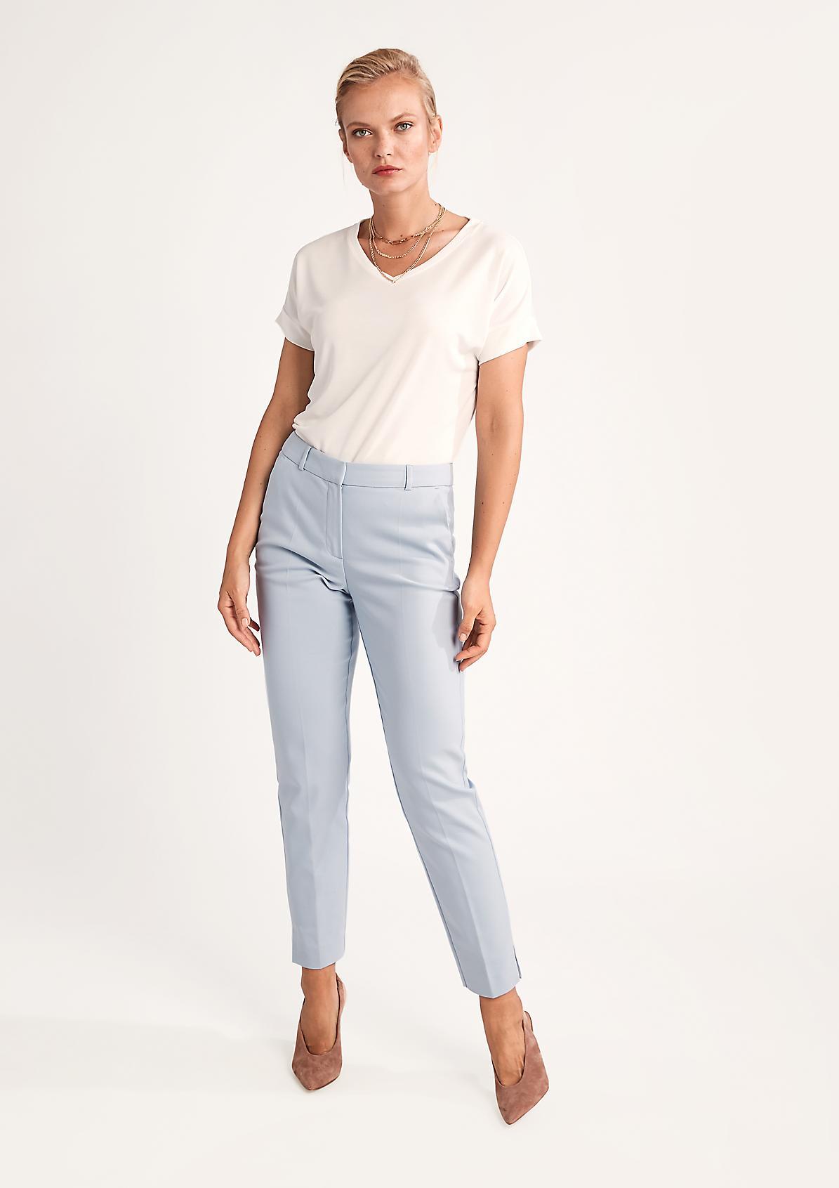 Slim: Hose aus Baumwollsatin