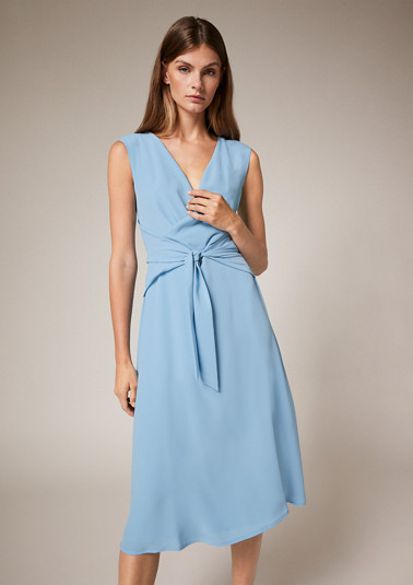 Wrap-over look chiffon dress from comma
