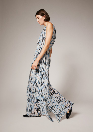 Maxi dress with an all-over pattern from comma