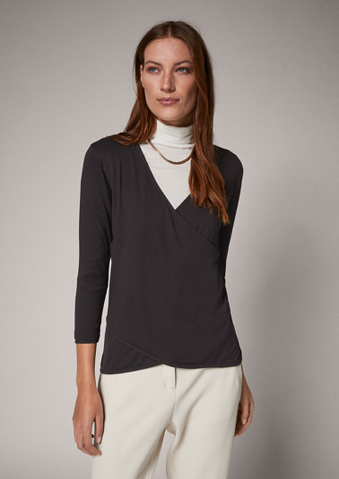 Stretch viscose jersey top from comma