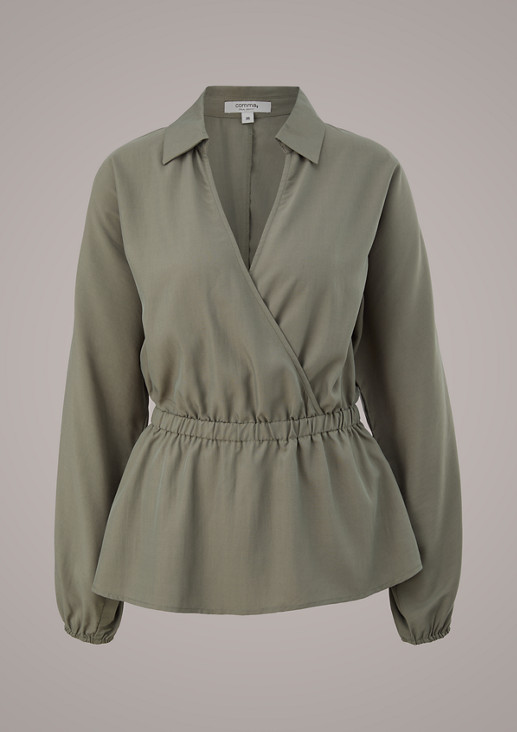 Bluse mit Cache-Coeur-Ausschnitt