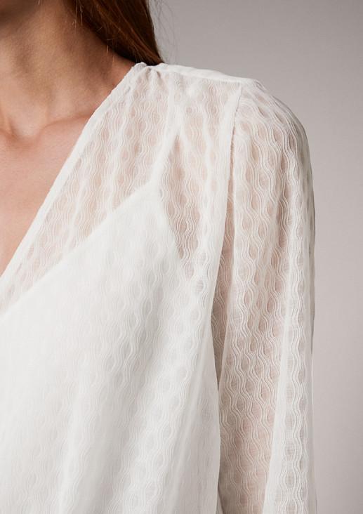 Transparente Bluse mit Trägertop