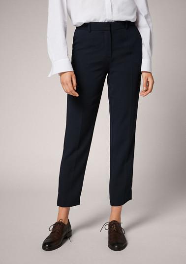 Regular: straight leg trousers from comma