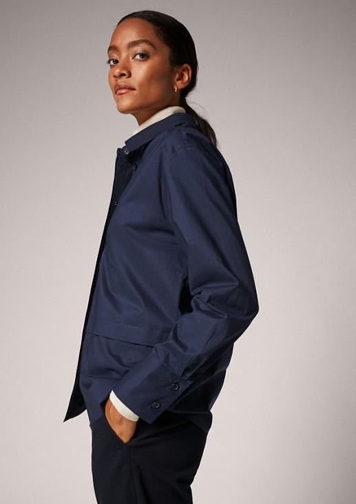 Bluse aus Baumwoll-Popeline