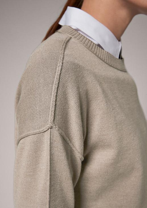 Pullover mit Rippbündchen