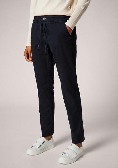 Regular: Cotton twill chinos from comma