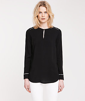 Casual blouse with decorative seams from liebeskind
