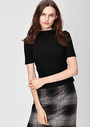 Ribbed short sleeve jumper from s.Oliver